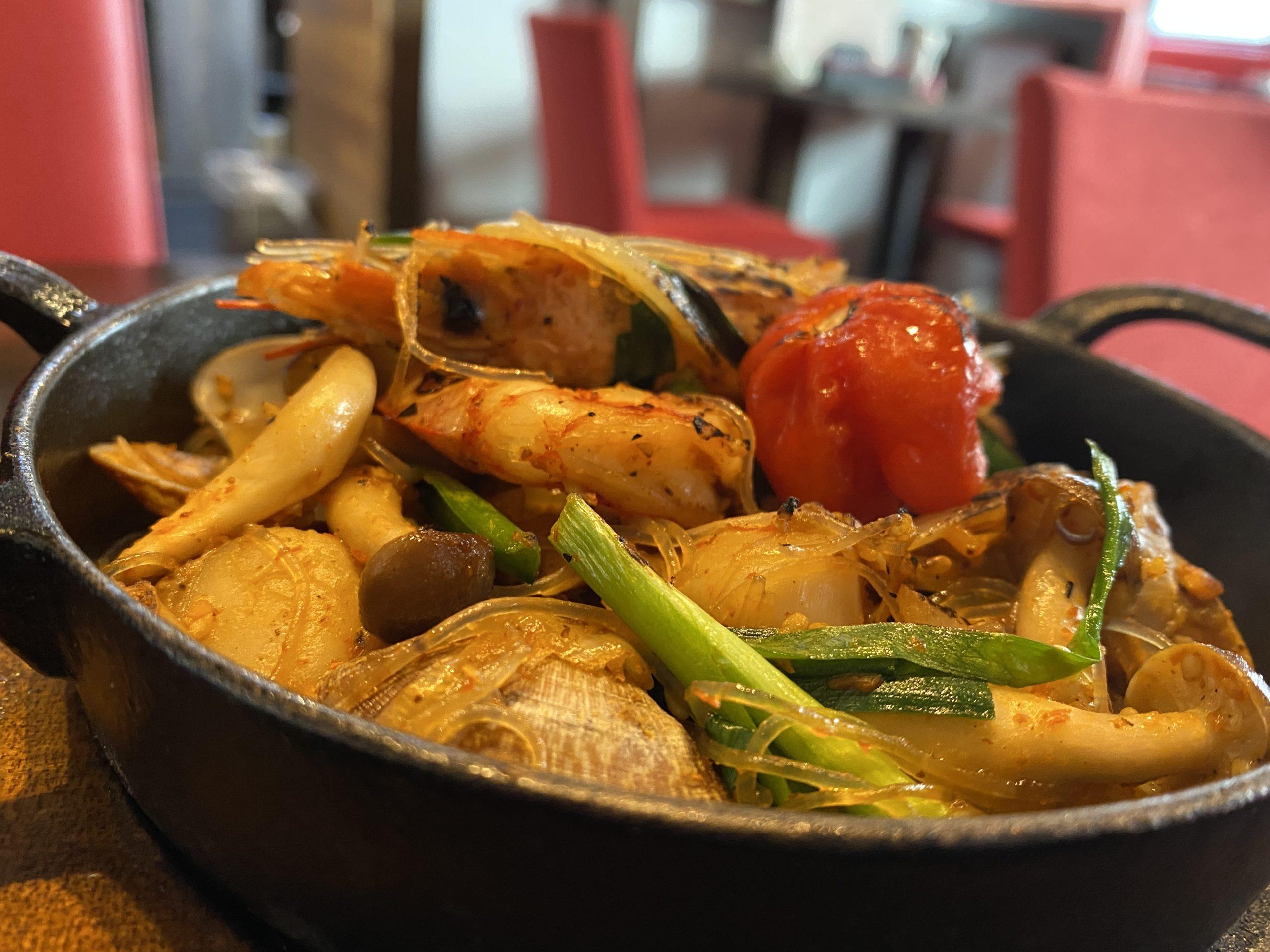 激辛海鮮チャプチェ